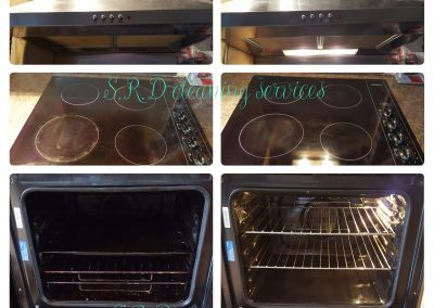 single oven, extractor, hob