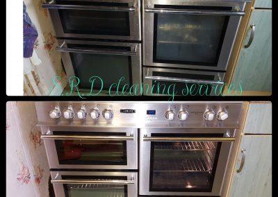 Range oven clean